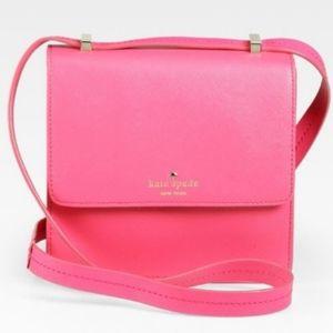 ♠️ Kate Spade Hot Pink Square Crossbody Bag